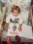 Apps for Good Education Community Manager, Natalie, in her younger days wearing her favourite Ninja t-shirt