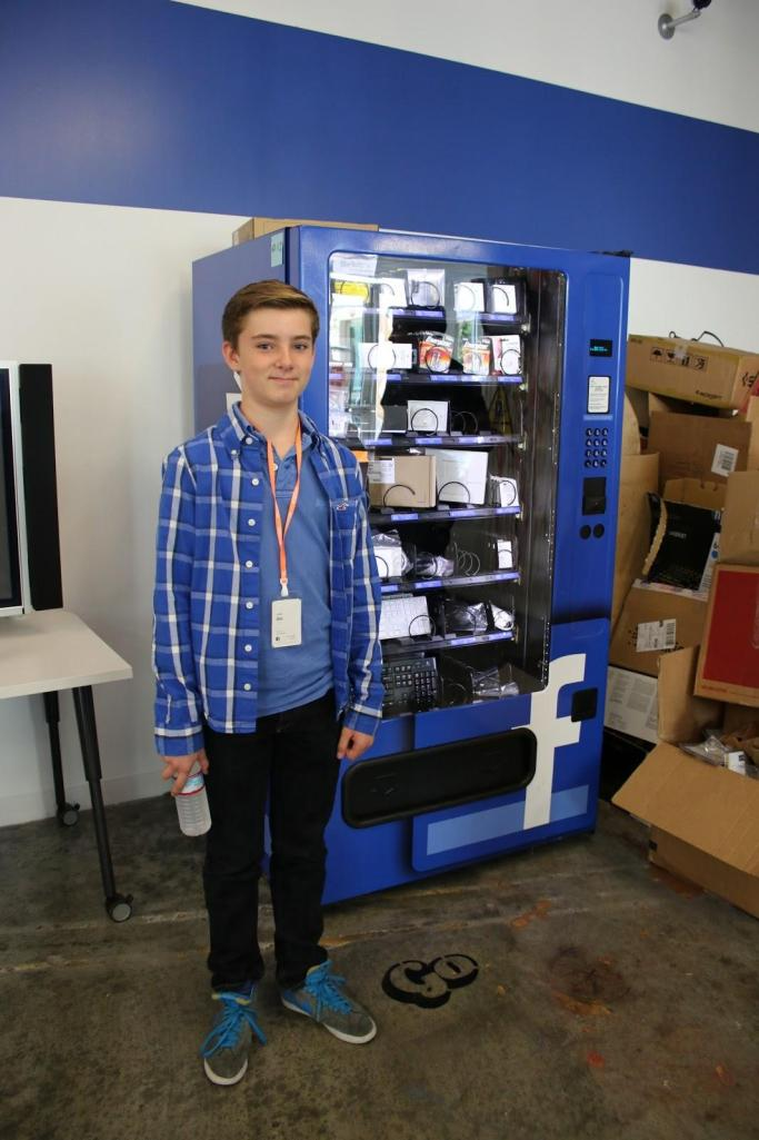 You won't find any drinks or snacks in this vending machine at Facebook!