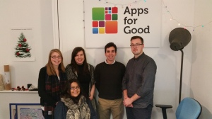 Emily, Rabya, Noreen, Max and Freddie have joined the Apps for Good team