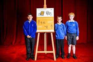 The Pocket Money Pig team presented their app at the Apps for Good Awards 2014