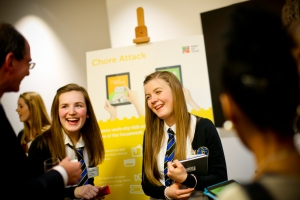 Students from Wick High School presented Chore Attack at the recent Apps for Good App Launch 2015