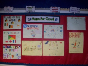Lamlash Primary School's Apps for Good projects