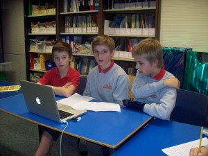 Lamlash Primary students work on their app ideas