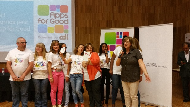 Celebrating Apps for Good students in Portugal