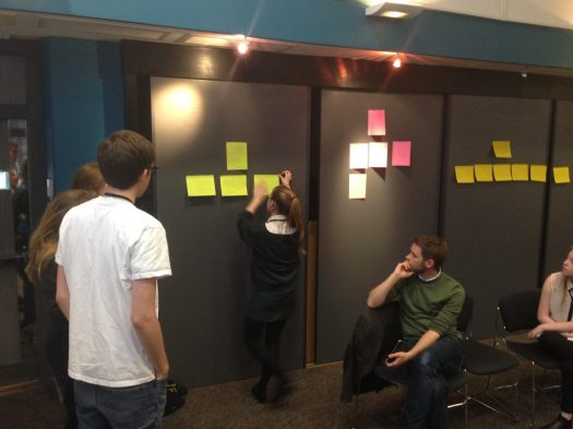 Apps for Good Fellows plan their websites at the 123-Reg workshop.