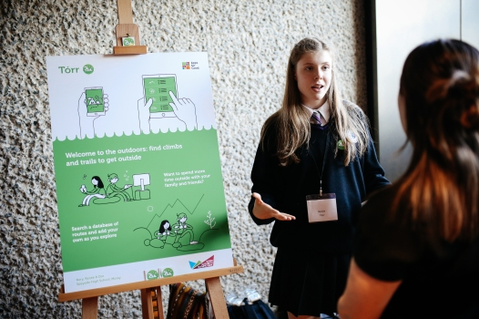 Team from Speyside High School, Aberlour, pitch their app at the 2016 UK National Awards